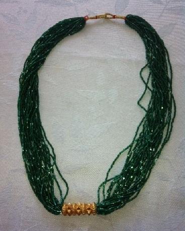 Green Tilhari mangalsutra