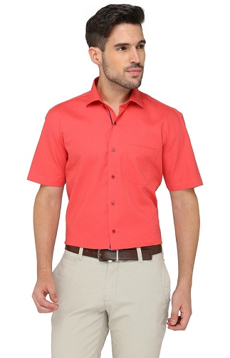 Half Sleeve Light Red Shirt
