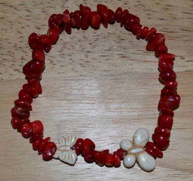 Handmade Red Boho Anklets for Girls