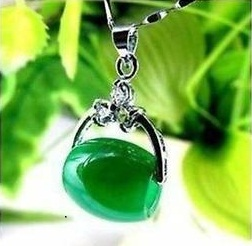 Hanging gemstone pendant