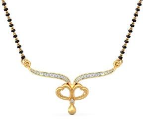 Heart Pendant 22k Gold Mangalsutra
