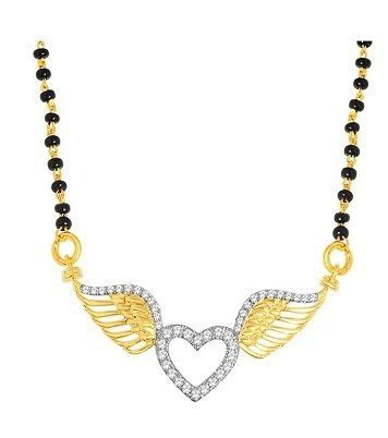 Heart shaped long mangalsutra