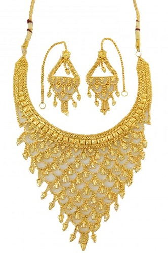 Heavy designedgold plated necklace