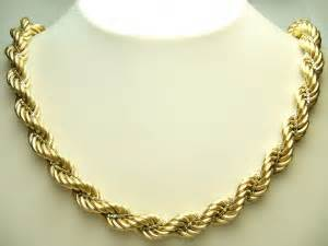 Heavy rope gold chain