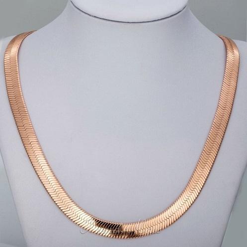 Herringbone Rose Gold Chain