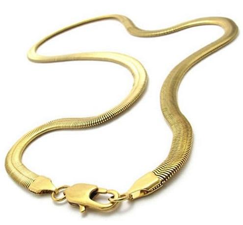 Herringbone gold chain