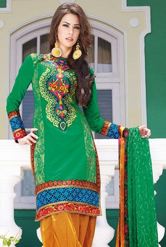 High-Neck Short Salwar Suit