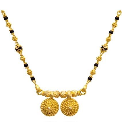 Hollow cups mangalsutra