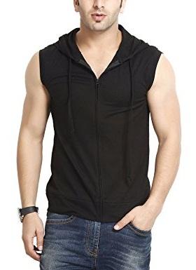 Hooded Cotton Vest for men