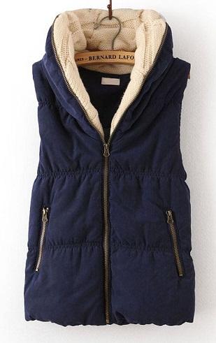 Hooded cotton winter vest