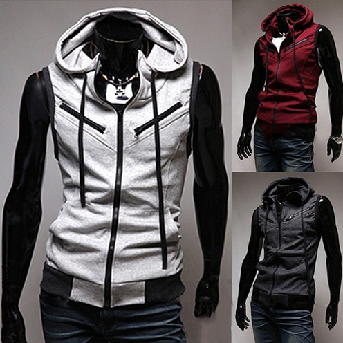 Hooded type Casual Vest