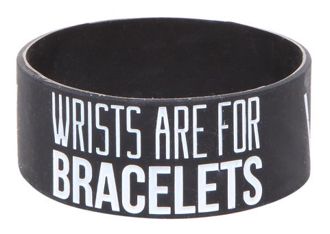 Hot topic rubber wristband