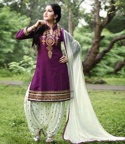 purple salwar suits