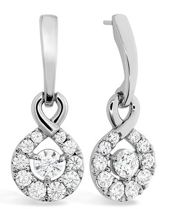 Infinite drop earrings