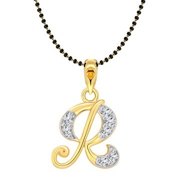 Initial letter Gold Platted Mangalsutra