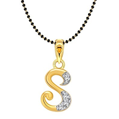 Initial letter locket mangalsutra