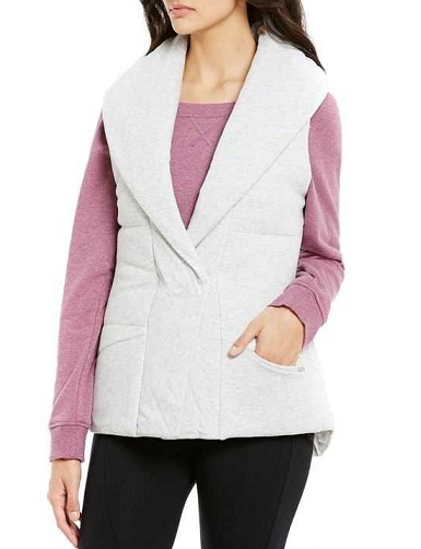 .Jersey-Quilt Outdoor Vest for Women