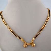Karugamani chain Gold Platted Mangalsutra