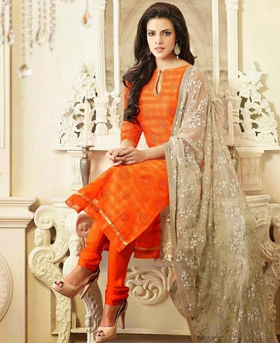 9 beautiful amp stylish designs of orange salwar suits