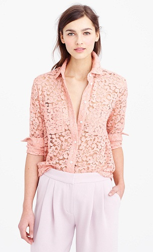 Lace Pink Women's Shirt