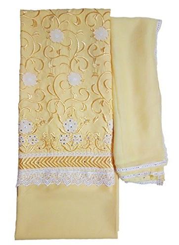 Lace Unstitched Salwar Suit