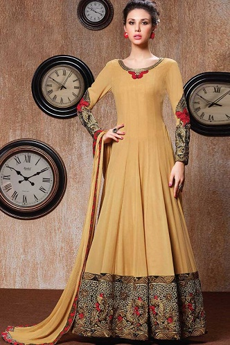 Lace designed full sleeve Floor length salwar suit