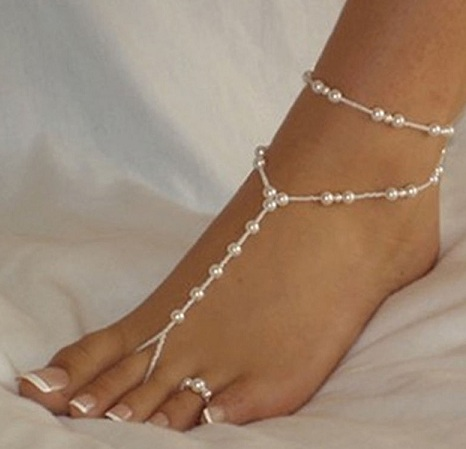 Latest Fancy Anklets with Freshwater Pearls