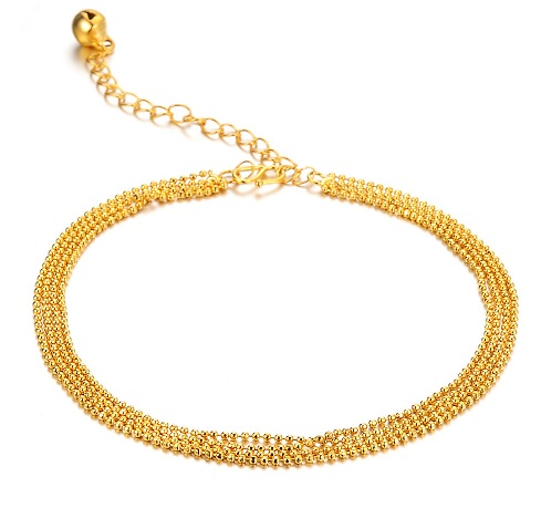 Latest Gold Plated Ankle Bracelet for Woman