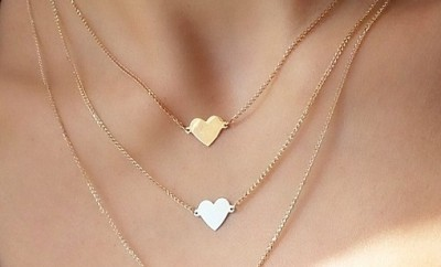 Layered heart Rose Gold Necklace