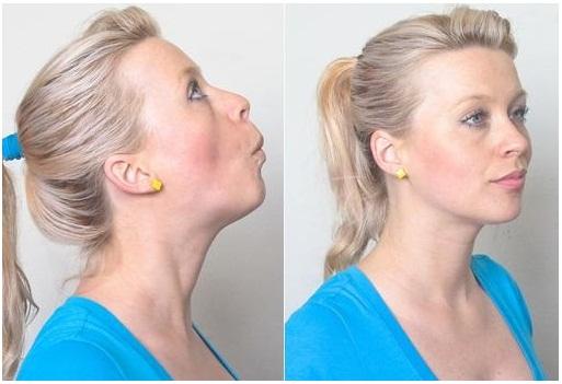 Lip Pull Exercise for Burn neck Fat