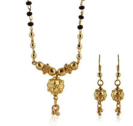 Little golden balls designed mangalsutra set