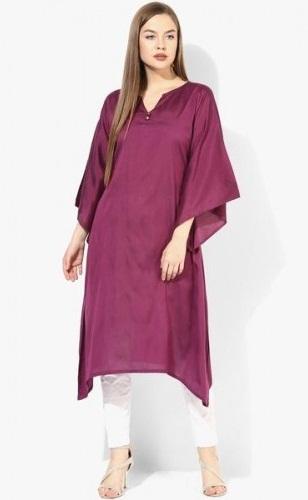Long Purple Salwar Suit