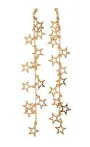 Long Dangling Star Earrings