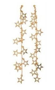 Long dangling Star Earrings