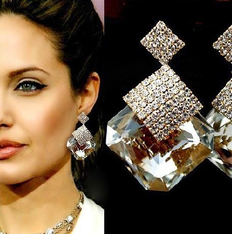 Long gold wedding designer earrings