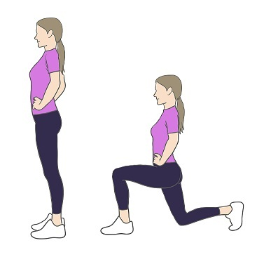 Lunges exercises for hips