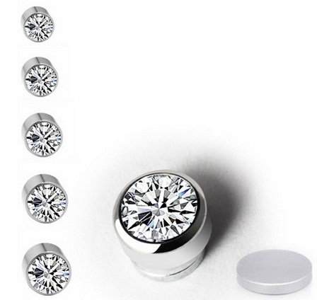 Magnetic Crystal Nose Stud1