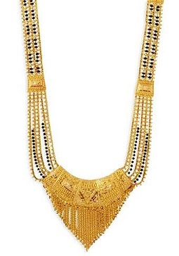Mangalsutra design with four chains