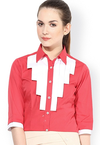 Modern Fit Red Shirt