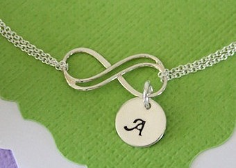 Monogrammed infinity anklet