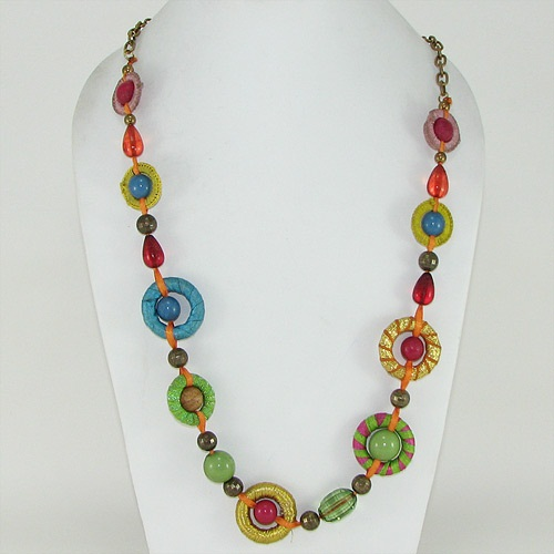 Multi- Colored Bead SimpleNecklace