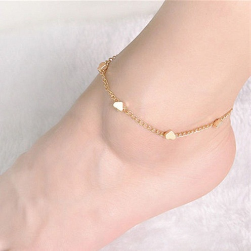 Multi- Heart Anklet