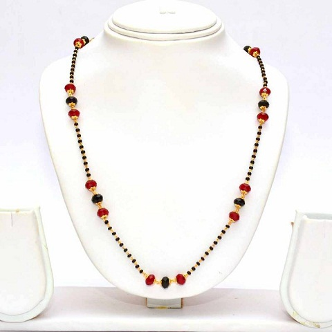 Multi color mangalsutra chain