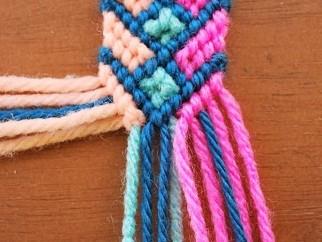 Multi-coloured Knitted Bracelet