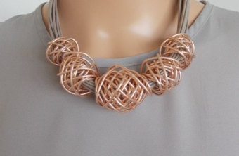 Multi-cord Rose Gold Necklace