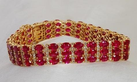 Multi row ruby bracelet