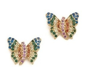 Multi stone butterfly earrings