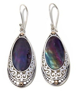 Multi stoned drop earrings