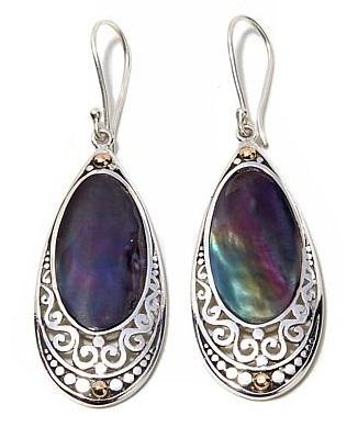 Multi stoned drop earrings