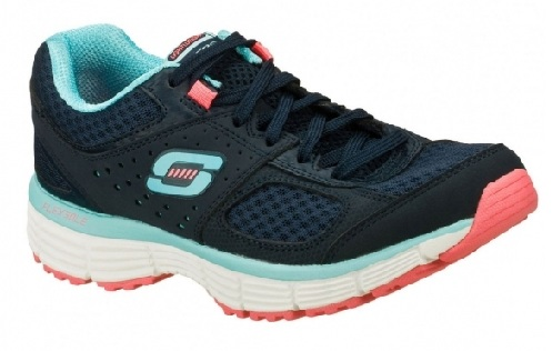 Navy Turquoise Agility Ladies Trainers